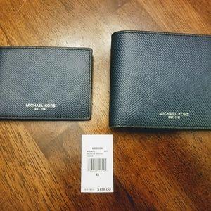 NWT Michael Kors Harison Wallet duo